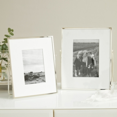 Fine Silver Easel Picture Frame 4x6""