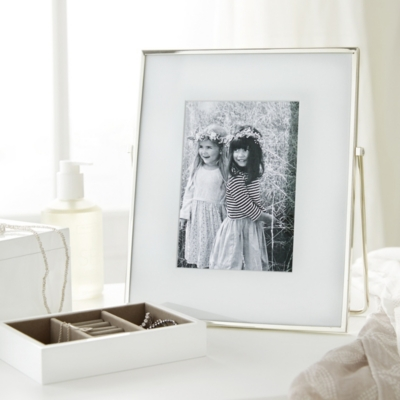 Fine Silver Easel Picture Frame 5x7''