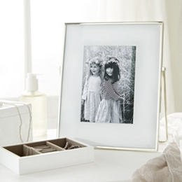 Fine Silver Easel Photo Frame 5x7''