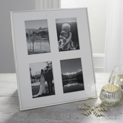 "4 Aperture Fine Silver Photo Frame 8x10"""