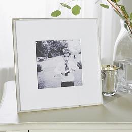 """Fine Silver Picture Frame 5x5"""""""