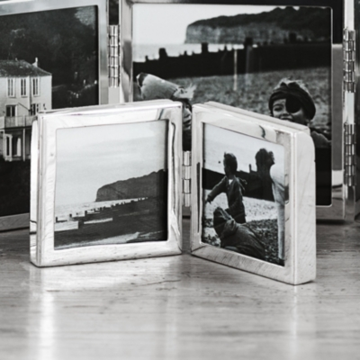 """Fine Silver Hinged Photo Frame 4x6"""""""