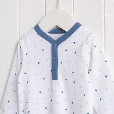 Starfish Henley Sleepsuit