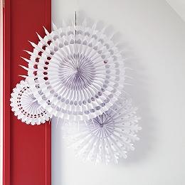 Snowflake Paper Decorations Set of 3