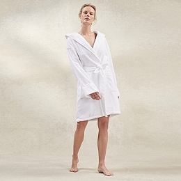 Hydrocotton Short Hooded Robe
