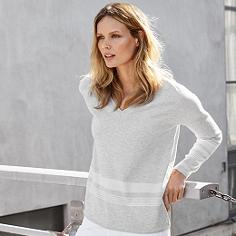 Stripe Hem Sweater