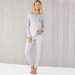 Stripe Henley Pajama Set