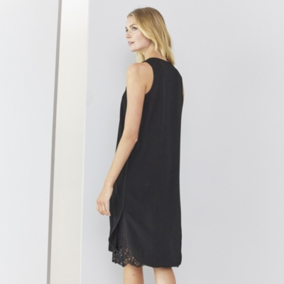 Shift Dress with Lace Slip