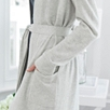 Cashmere Short Robe - SilverGrayMarl