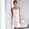 Short Silk Nightdress - Alabaster