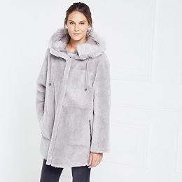 Reversible Sheepskin Parka Coat
