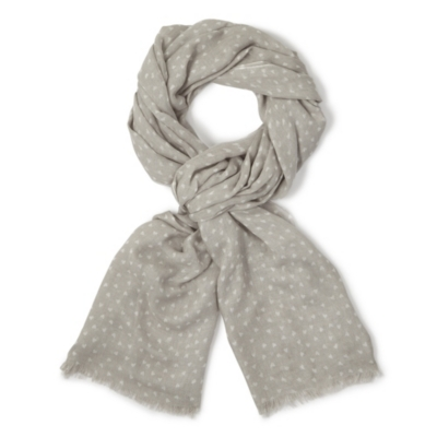 Scattered Heart Print Scarf