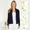 Rib Mix Short Cardigan - Navy