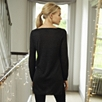 Step Hem Sparkle Sweater