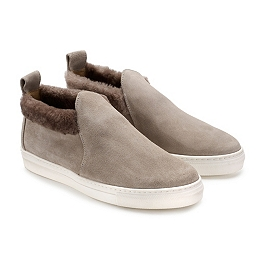 Sheepskin Slip On Plimsoll