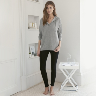 Hooded Sweater with Flatlock detail