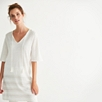 Linen Striped Hem Tunic