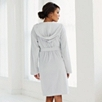 Short Lightweight Velour Robe - Gray