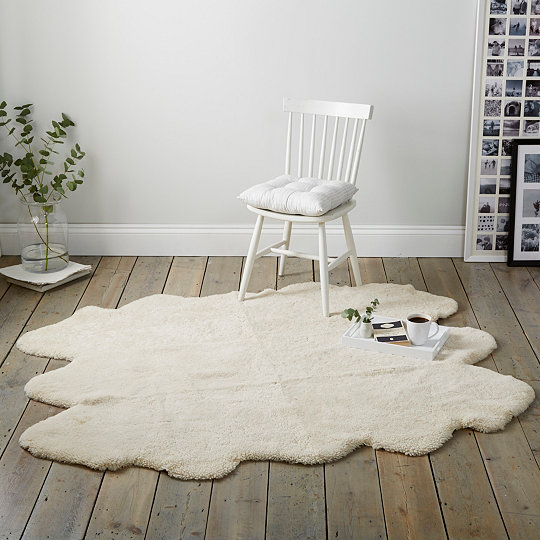 To Curly Pearl Shearling Rug