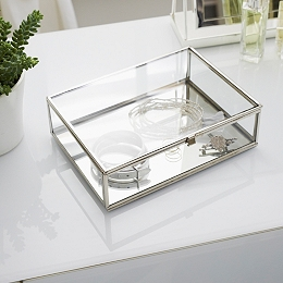 Glass Large Jewelry Box