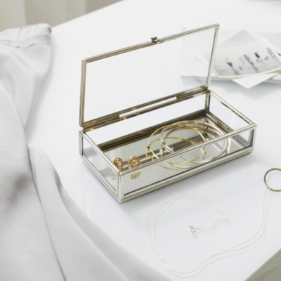 Glass Small Jewelry Box Home The White Company US