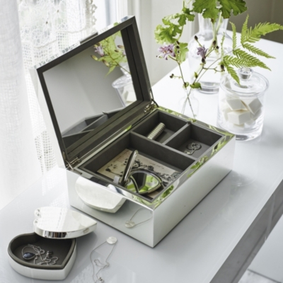 Silver Plated Large Jewelry Box