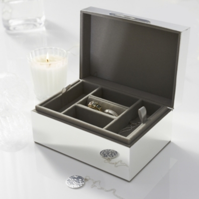 Small Silver Plated Jewelry Box