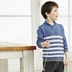 Shawl Neck Striped Sweater