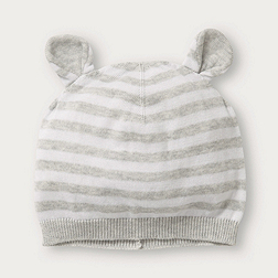 Stripe Knitted Hat with Ears