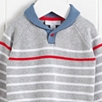 Shawl Neck Stripe Sweater