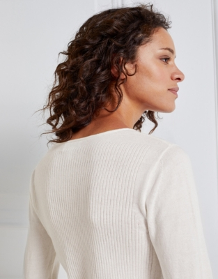 Silk-Cotton Layering Jumper - Porcelain