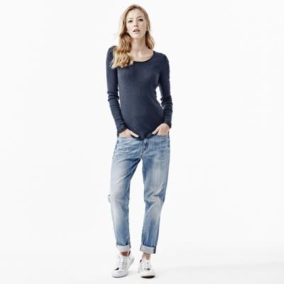 Stripe Rib T-shirt - Blue Stripe