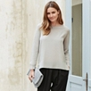Silk Front Sweater - Silver