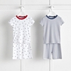Stripe and Star 2 Pack Pajamas Snug Fit