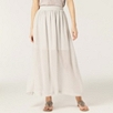 Silk Chiffon Skirt - Silver Gray