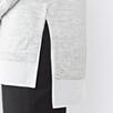 Silk Hem Sweater - Pale Gray Marl