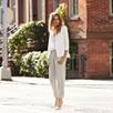 Silk Pants - Limestone