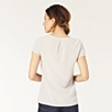 Silk Back Jersey Tee - Silver Gray