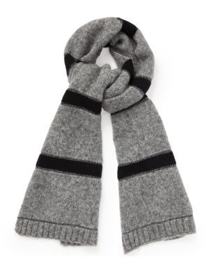Sparkle Stripe Knitted Scarf