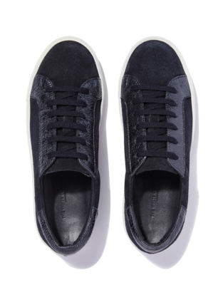 Lace Up Sparkle Panel Sneakers