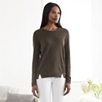 Silk Panel Sweater - Khaki