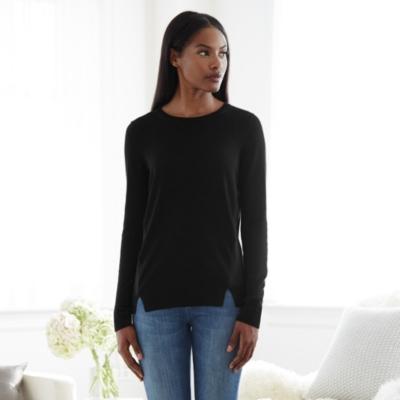 Silk Panel Sweater - Black