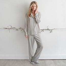 Silk Foulard Printed Pajamas
