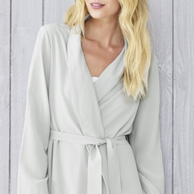 Silk Crepe-de-Chine Robe