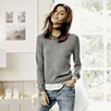 Silk Shirt Hem Sweater