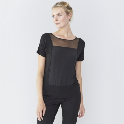 Silk Sheer Panel Top