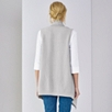 Sleeveless Boiled Wool Cardigan