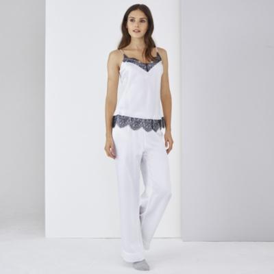 Silk Lace Cami Pajama Set