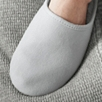 Faux Fur Lined Grosgrain Slippers