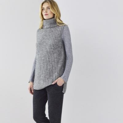 Sleeveless Multi Rib Sweater